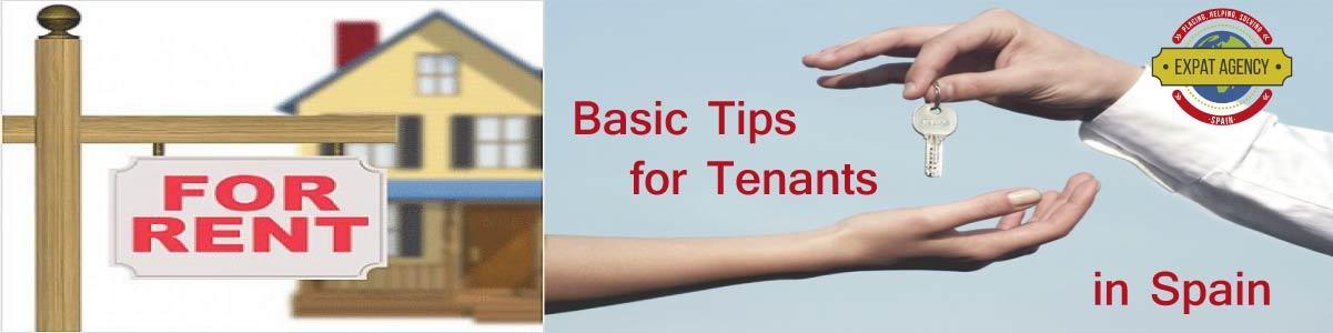 Basic tips tenant spain2