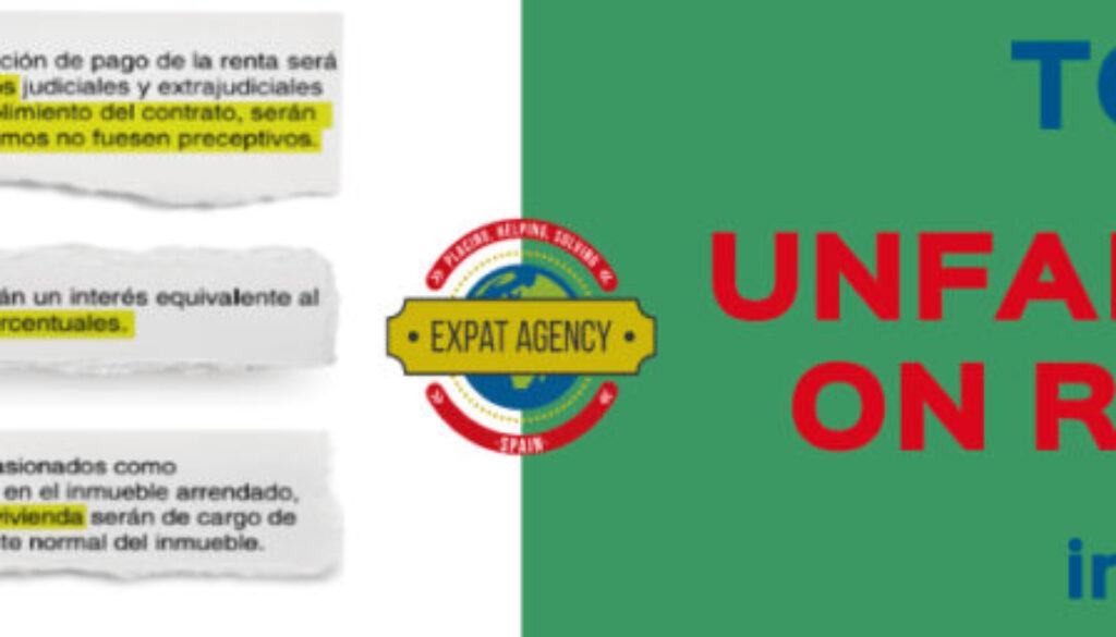Top ten unfair terms on rentals in Spain