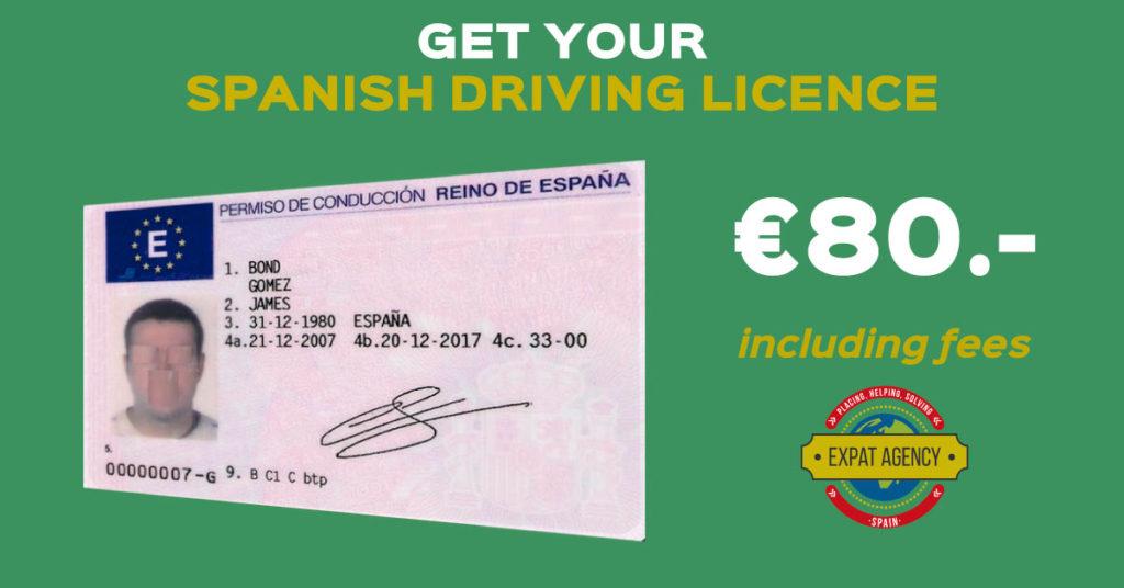 spanish driving licence malaga